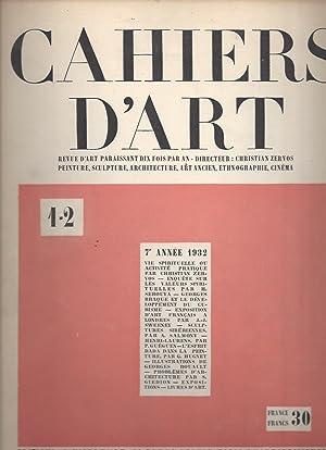 CAHIERS D'ART - 7e année N° 1-2: Zervos, Christian