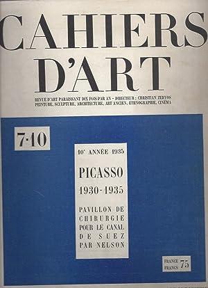 CAHIERS D'ART - 10e année N° 7-10: Zervos, Christian