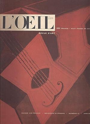L'OEIL Revue d'art mensuelle - N° 37: Bernier, Georges &