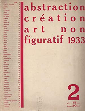 abstraction création art non figuratif 1933 N°: Arp, Jean -
