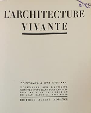 L'ARCHITECTURE VIVANTE: PRINTEMPS & ETÉ- 1926 /NO. 11 - 12 (50 bound-in Plates)