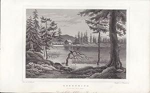 Oderteich. Ursprung der Oder. Stahlstich nach einer Zeichnung von L.Rohbock von L. Thümling.