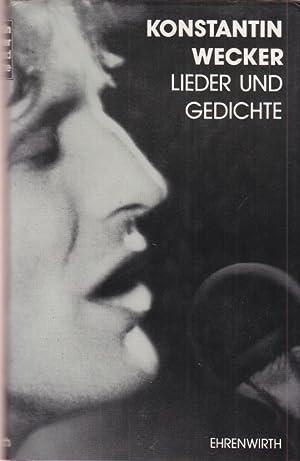Lieder und Gedichte.: Wecker, Konstantin: