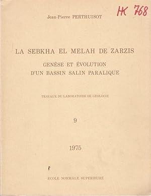 La Sebkha El Melah de Zarzis. Genèse: Perthuisot, Jean-Pierre: