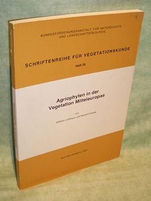 Agriophyten in der Vegetation Mitteleuropas.: Botanik Gartenbau - Lohmeyer, Wilhelm; Sukopp, ...