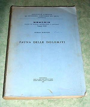 Fauna delle Dolomiti.: Zoologie Marcuzzi, Giorgio.