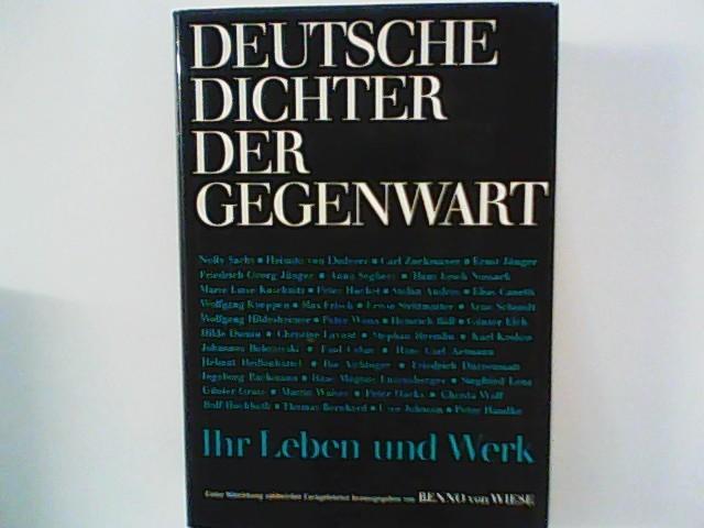 Deutsche Dichter der Gegenwart : ihr Leben: Wiese, Benno von