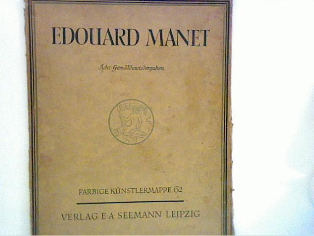 Acht Gemäldewiedergaben.: Manet, Edouard: