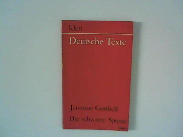 Die schwarze Spinne Deutsche Texte: Gotthelf, Jeremias: