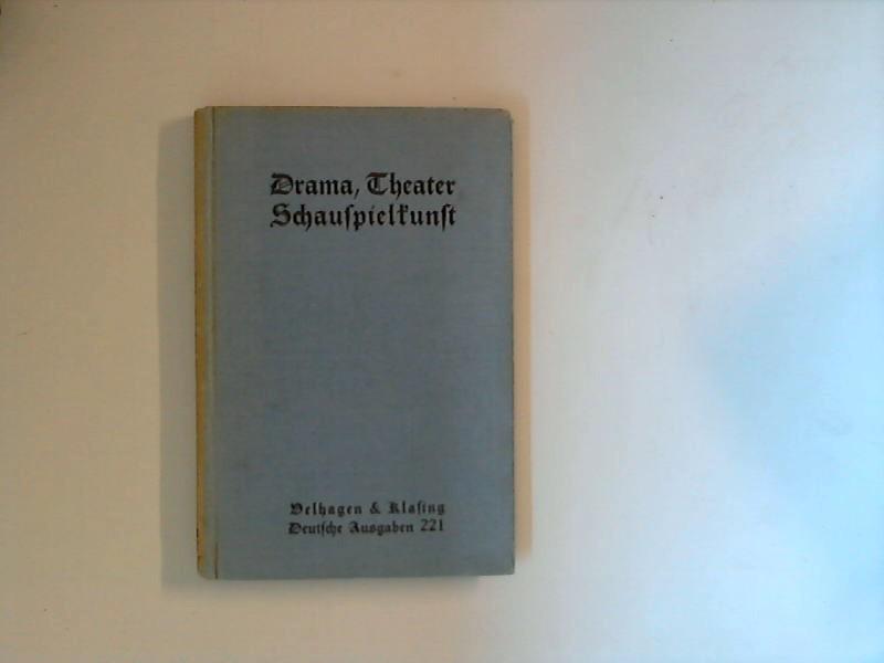 Drama, Theater, Schauspielkunst : Lesebuch der Dramaturgie: Müller, Georg: