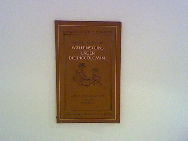 Friedrich Schiller: Wallenstein: Ein Dramatisches Gedicht, erster: Schiller, Friedrich: