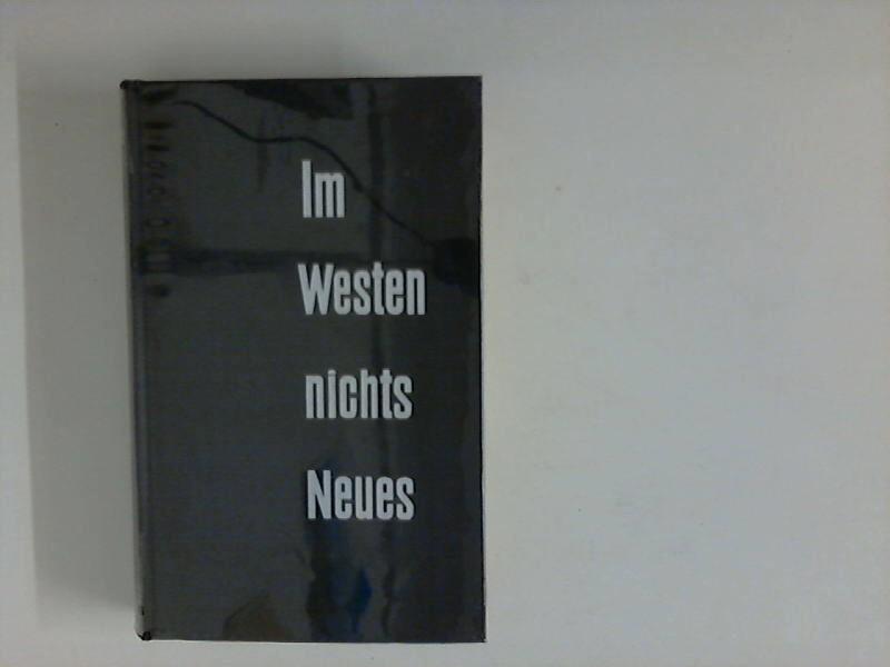 Im Westen Nichts Neues Von Remarque Erich Maria