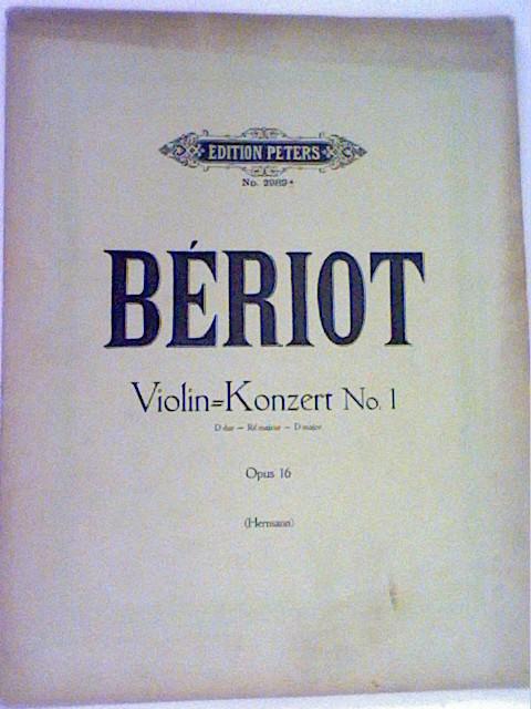 Violin-Konzert Nr. 1 D dur - Re majeur - D major Opus 16 Edition Peters No. 2989a
