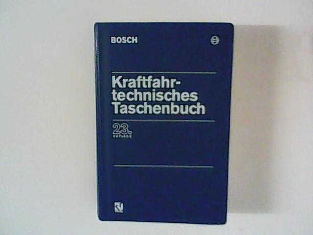 Kraftfahrtechnisches Taschenbuch.: Bauer, Horst Red.: