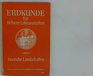 Erdkunde für höhere Lehranstalten : Band 1: Schäfer, Wilhelm [Hrsg.],