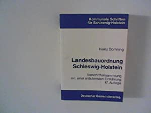 Landesbauordnung schleswig holstein von domning heinz deutscher gemeindeverlag - Landesbauordnung schleswig holstein gartenhaus ...