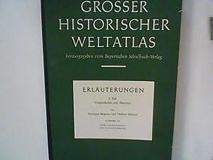 Grosser historischer Weltatlas: 1. Teil Vorgeschichte und: Bengtson, Hermann und