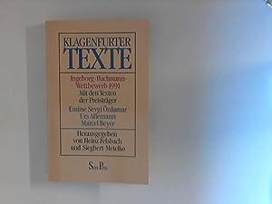 Klagenfurter Texte Ingeborg-Bachmann-Wettbewerb 1991: Felsbach, Heinz und