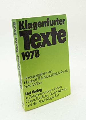 Klagenfurter Texte zum Ingeborg-Bachmann-Preis : 1978 /: Fink, Humbert [Hrsg.]