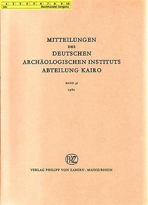 Mitteilungen des Deutschen Archäologischen Instituts - Abteilung: Deutsches Archäologisches Institut