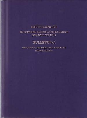 Mitteilungen des Deutschen Archäologischen Instituts - Römische Abteilung. Band 94, 1987 / ...