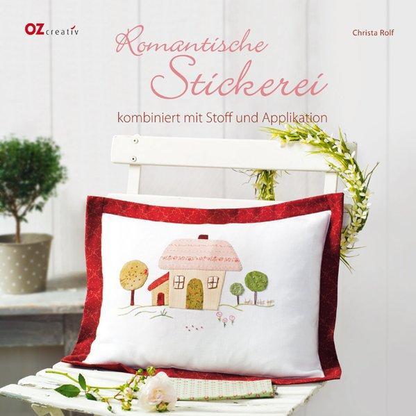 Romantische Stickerei kombiniert mit Stoff und Applikation - Rolf, Christa