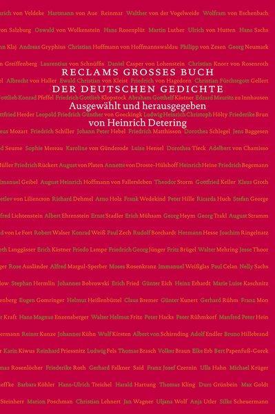 Reclams großes Buch der deutschen Gedichte: Vom Mittelalter bis ins 21. Jahrhundert - Detering, Heinrich