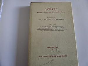 Civitas Jahrbuch für christliche Gesellschaftsordung Erster Band 1962: Heinrich Pesch Haus Mannheim...