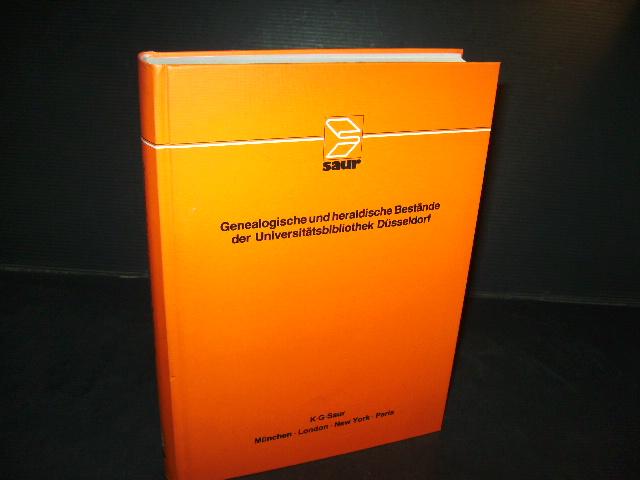 Genealogische und heraldische Bestände der Universitätsbibliothek Düsseldorf.: Gattermann, Günter (Hrsg).