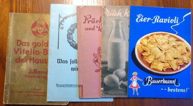 5 alte Kochbücher: 1. Das goldene Vitello-Buch: Konvolut:
