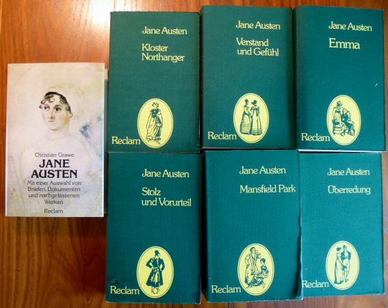 Konvolut Jane Austen (Reclam) 7 Bücher : Austen, Jane: