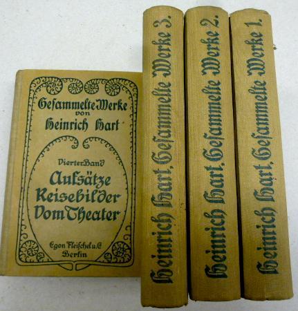 Gesammelte Werke. 4 Bände (komplett). Herausgegeben von: Hart, Heinrich: