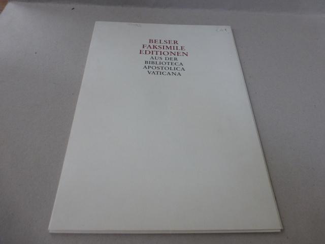 Werbeblatt für Belser Faksimile Edition: Neues Testament: Faksimile. -