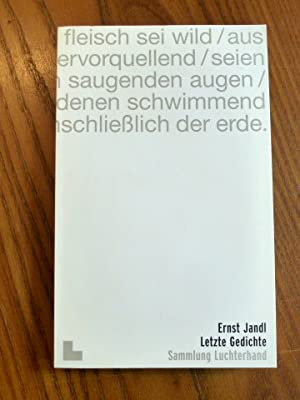 Letzte Gedichte. (SL 2001): Jandl, Ernst: