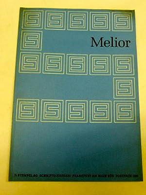 Melior. Die Melior-Antiqua, bei der D. Stempel: Stempel AG: