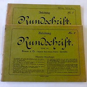 2 Hefte: Anleitung zur Rundschrift - No.: Schreibschrift: