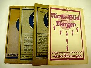 Konvolut 4 Hefte Nord und Süd. Eine: Stein, Ludwig (Hrsg.):