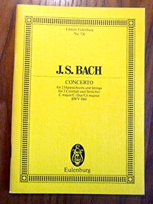 J. S. Bach: Concerto for 2 Harpsichords: Schering, Arnold (ed.):