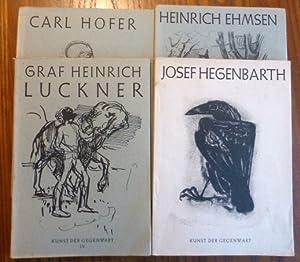 Konvolut 4 Hefte Kunst der Gegenwart : Werner, Alfred /
