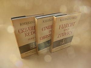 Gesammelte Werke. 3 Bände der Reihe. Furcht: Kierkegaard, Sören.
