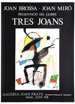 Tres Joans - (Farblithografie / 1978): Joan Miro (1893-1983)