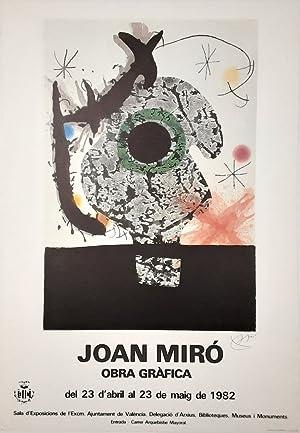 Obra Grafica - (1982 / Ausstellungsplakat): Joan Miro (1893