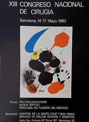 XIII Congreso Nacional de Cirugia -1980: Joan Miro (1893-1983)