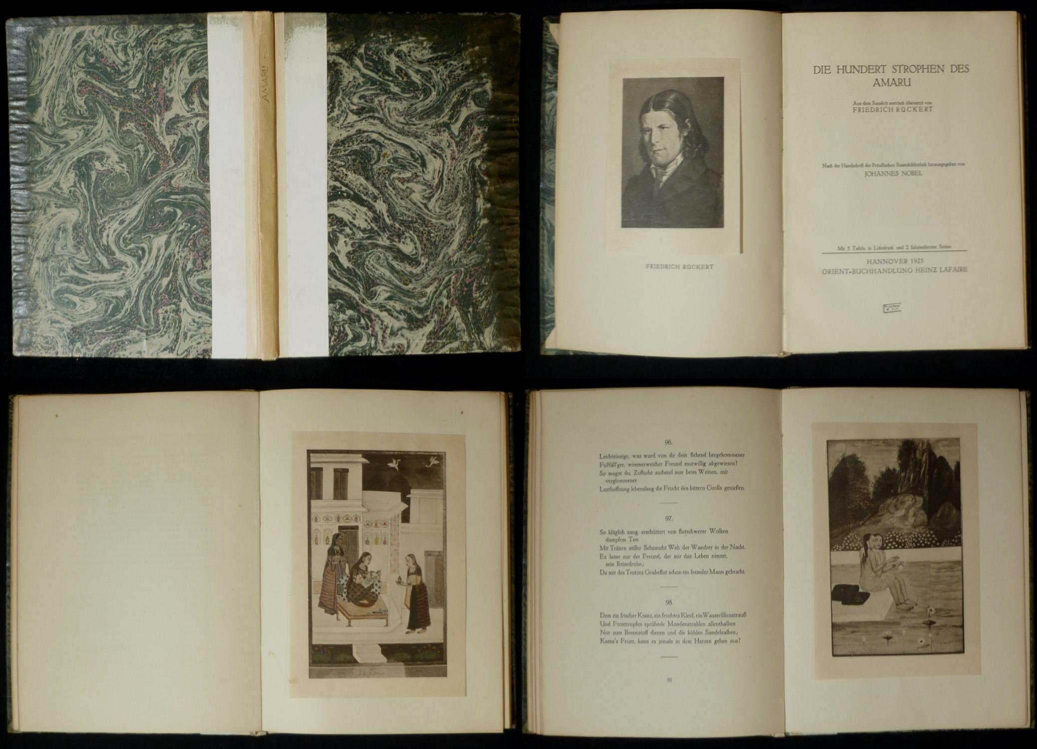 Die hundert Strophen des Amaru. Aus dem: Rückert, Friedrich (Übers.)