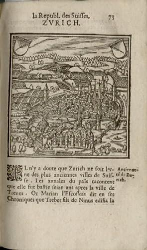 La republique des Suisses. . le gouvernement: Simler, Josias (1530-1576).