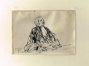 Richter. Original-Tuschzeichnung.: Steinlen, Théophile Alexandre (1859-1923).