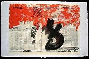 Suite zu Octavio Paz: Petrificada petrificante.: Tàpies, Antoni (1923-2012).