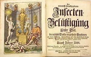 Der monatlich herausgegebenen Insecten-Belustigung. Erster bis vierter: Zoologie. Insekten -