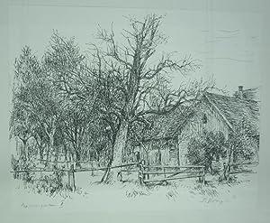 Baumgarten II. Original Lithographie.: Deringer, Fritz (1903-1950).