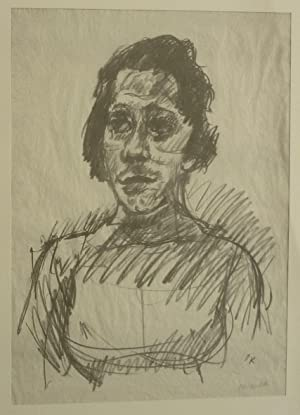 Tilla Durieux. Original-Lithographie.: Kokoschka, Oskar (1886-1980).